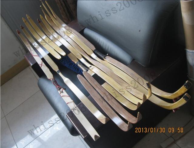 10 longue taille de bambou arc recourbé feuilleté les arcs bambou