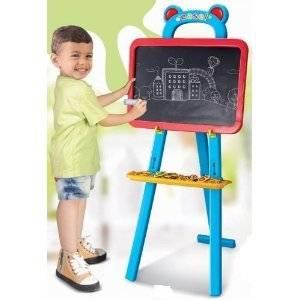 Tableau Chevalet pour enfant 3 en 1: Tableau magnétique, tableau à