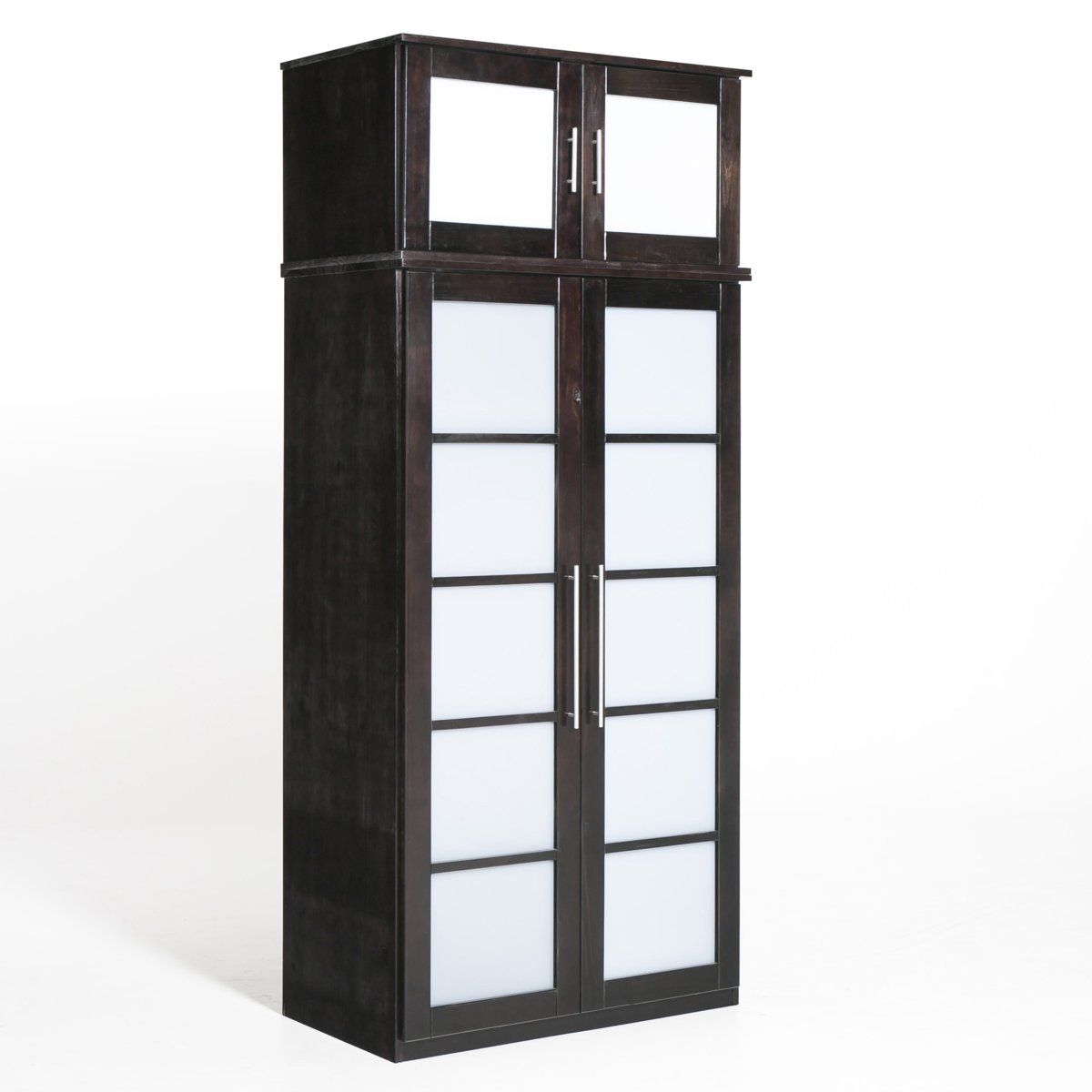 Armoire, dressing, pin massif, h230 cm, bolton Interieurs