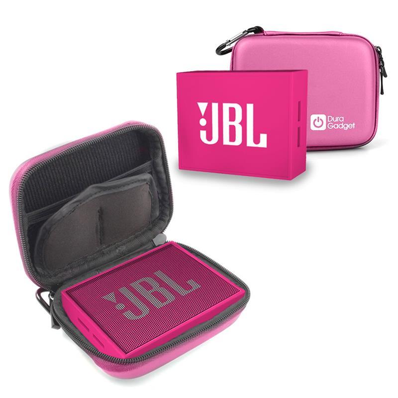 Etui housse rigide rose pour mini enceintes portables JBL GO Bluetooth