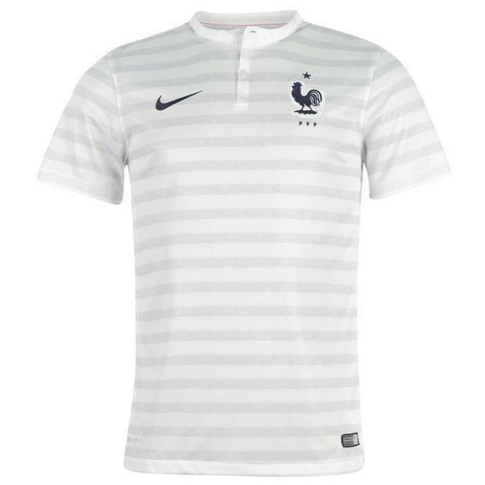 Nike Maillot Officiel II Equipe de France Coupe du Blanc Blanc rayé