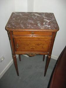 Table de Nuit Chevet Ancienne table de nuit avec marbre début de