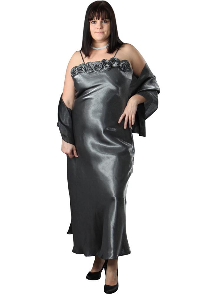 Boutique Magique Robe De Soirée Grande Taille Nahia + Étole