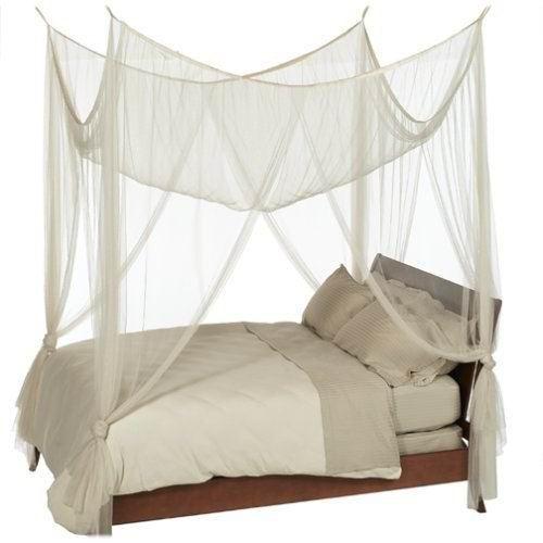 Lit à Baldaquin Couleur Blanc Achat / Vente moustiquaire de lit