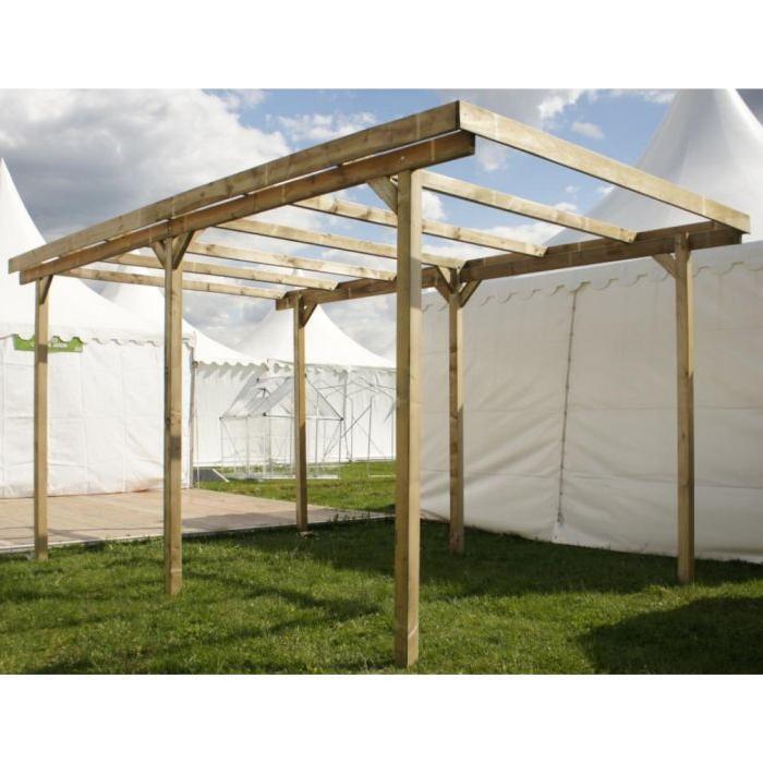 Carport bois IMPERIA 15m² avec 6 poteaux Achat / Vente carport