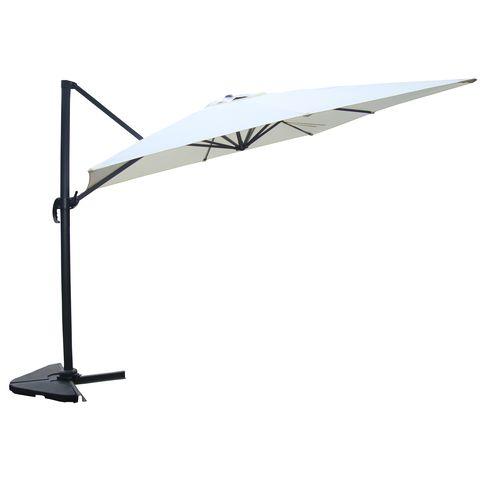 Cesare écru : Parasol déporté, rectangulaire de 3×4 m, rotatif