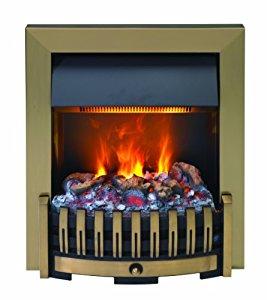 EWT 202536 Feu de cheminée décoratif Optimyst Danville Laiton