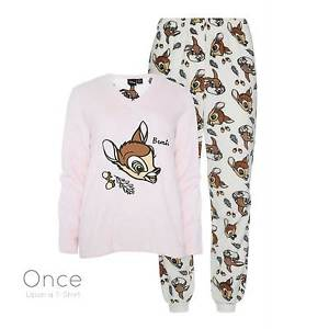 Mesdames DISNEY BAMBI molleton confortable pull Pyjama mis de PJ