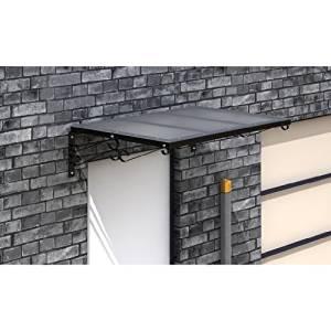 Auvent marquise aluminium & Polycarbonate solide pour porte d' entrée