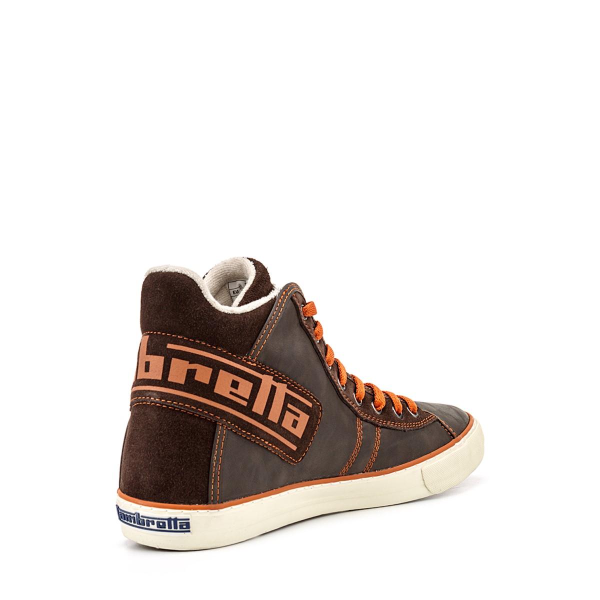 Chaussure Homme Montante Cuir Marron Et Orange Curzon Logo Bbi