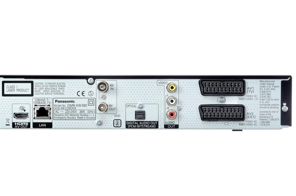 Enregistreur vidéo Panasonic DMR XW380EFK DMRXW380EFK (3344150