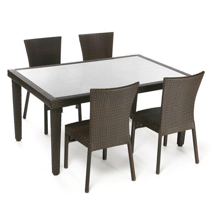 salon de jardin BRIGHTON Table + 4 chaises Soldes* d?été
