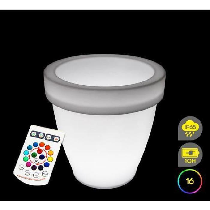 Pot Lumineux LED 66 cm Extérieur Sans Fil Achat / Vente Pot