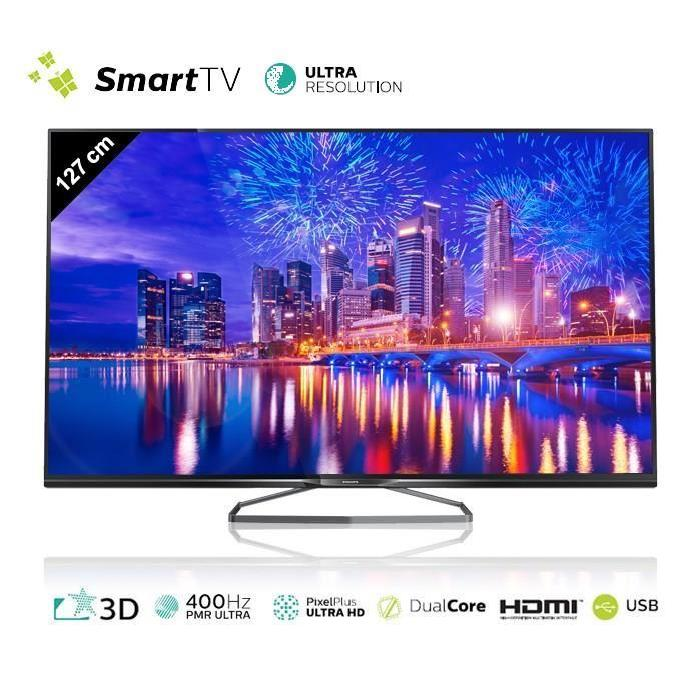PHILIPS TV 50PUK6809 UHD 4K 127cm (50 pouces) LED Smart TV 3D