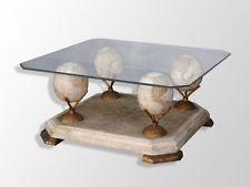 SILVA Plateau table basse 90cm Blanc transparent et chrome TABLE