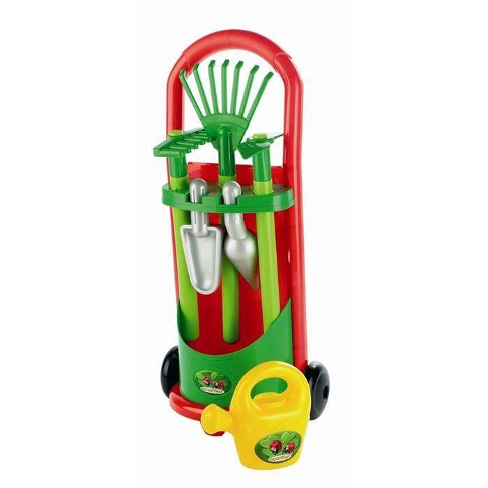 Ecoiffier Un chariot 2 roues contenant les 6 accessoires