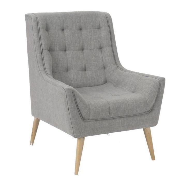 fauteuil retro gris