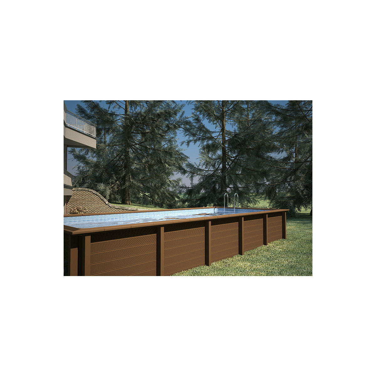 Piscine rectangulaire topiwall for Kit piscine beton pas cher