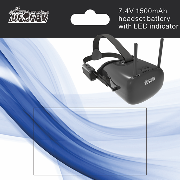 UFOFPV V3 5.8G 40CH 5 Inch 800 x 480 HD Screen FPV Goggle Video
