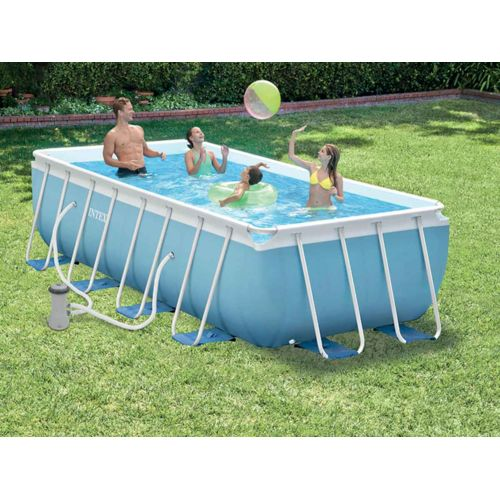 Intex Piscine tubulaire rectangulaire 4,00 x 2,00 x 1,00 m Bleu