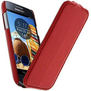 Avizar Housse Coque Etui Clapet Cuir pour Samsung Galaxy S4 Mini