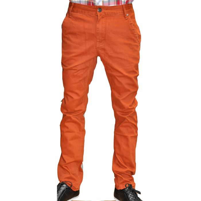 Pantalon Chino orange Homme Fashion Pantalon chino orange 100% coton