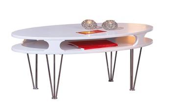 Table basse Table Basse De Salon D'Appoint Ovale Design Et Robuste
