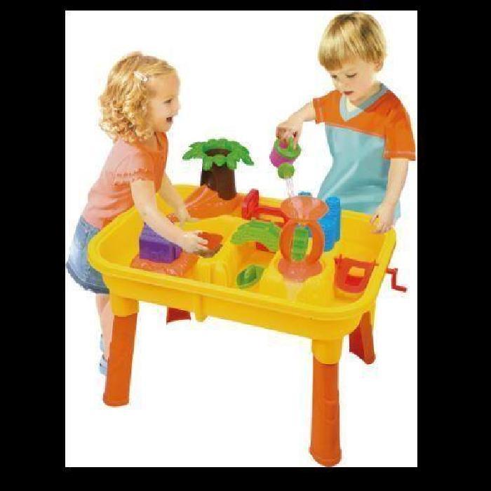 TABLE DE JEU PLAGE SABLE EAU + 20 PIECES ENFANT JOUET JARDIN MAISON