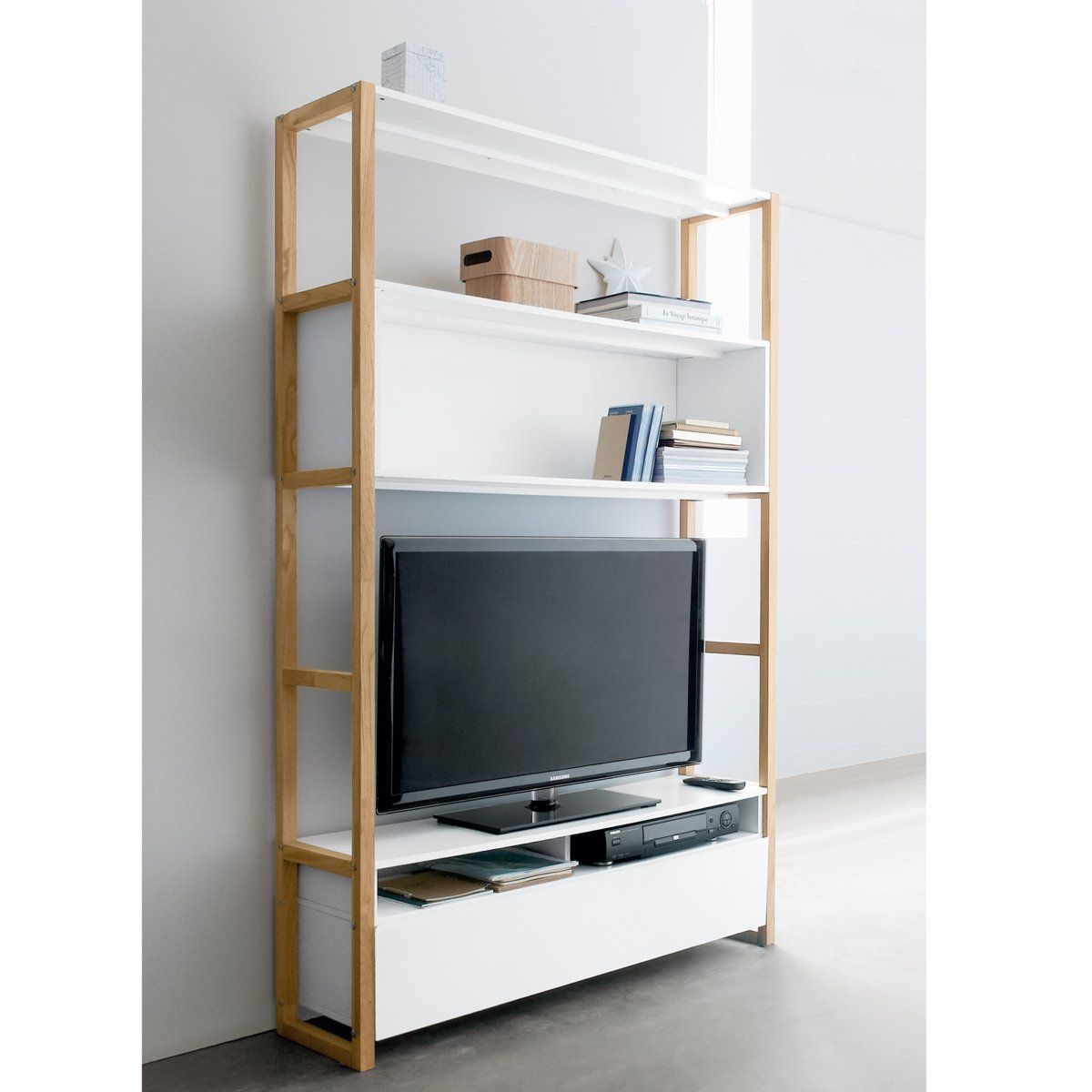 Etagere pour tv topiwall for Meuble tv etagere