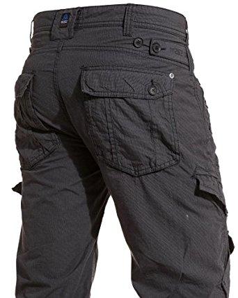 Mezaguz Pantalon homme noir multipoches Couleur : Noir Taille