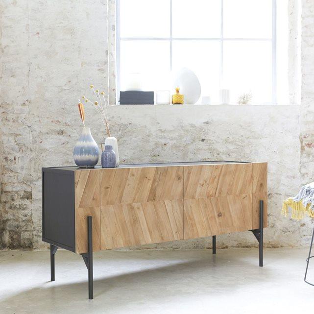 TIKAMOON Buffet en métal et bois de pin recyclé 150 Honorine | La