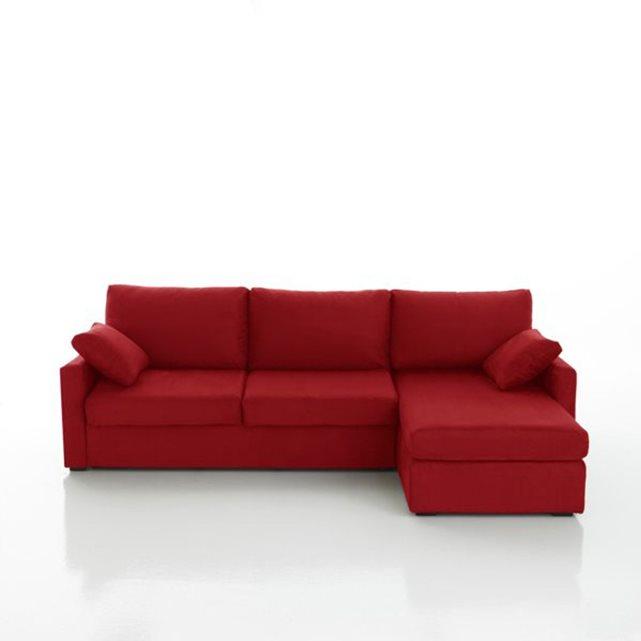 Canapé d'angle lit, couchage express, microfibre, La Redoute