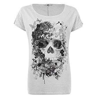 Mim T shirt tête de mort Femme S ROSE CL
