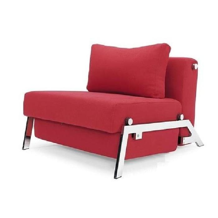 Fauteuil lit design SOFABED CUBED rouge convertibl Achat / Vente