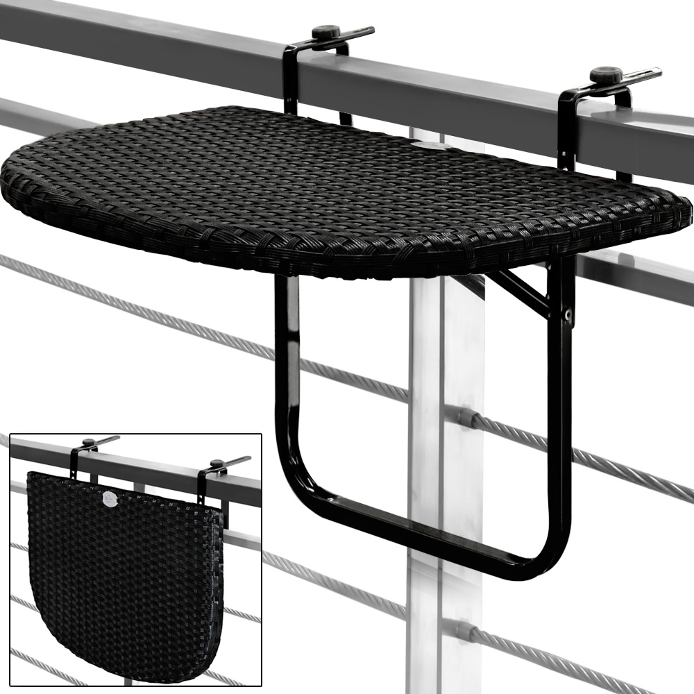 Table DE Balcon Tablette Suspendue Ajustable EN Hauteur Rabattable