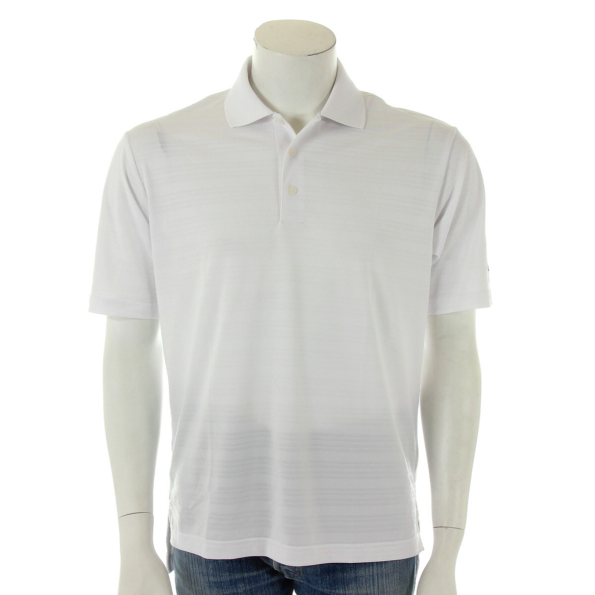 Vêtement Polo Adidas Homme ADI Performance Solid Golf Taille Blanc