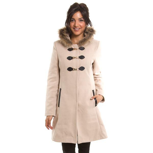 Acheter manteau col fourrure femme