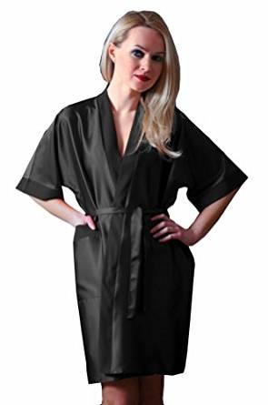 Nine X Peignoir forme kimono en satin femme chuchotements du 36 au 54