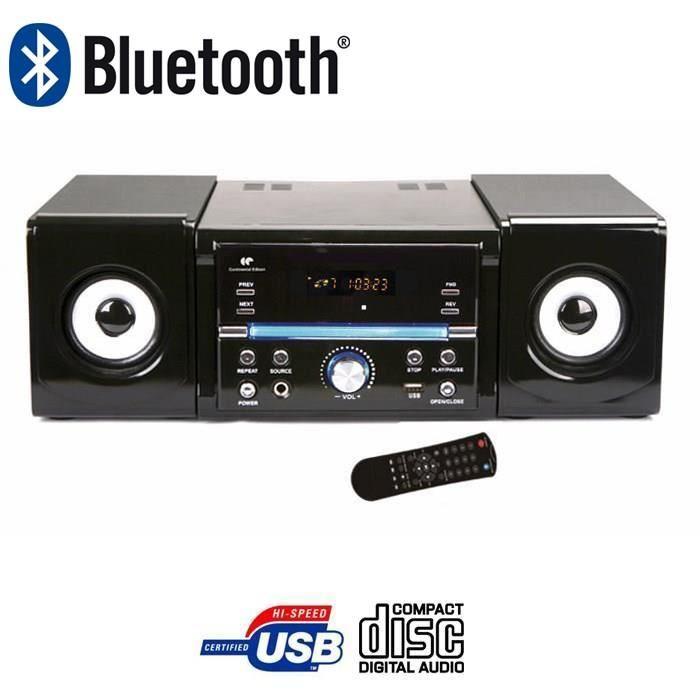 Mini chaîne HiFi Bluetooth Lecture CD Port USB Puissance audio