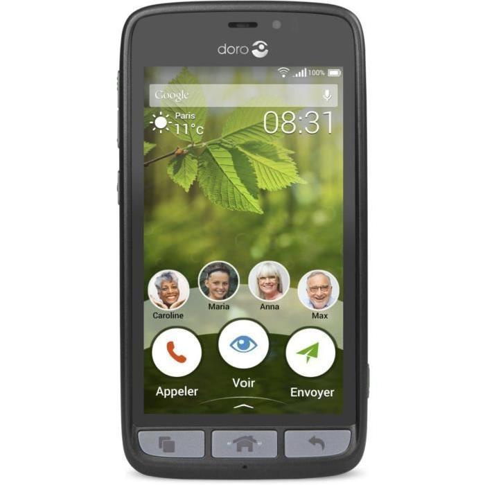 Smartphone DORO Liberto 8031 Noir Achat smartphone pas cher, avis et