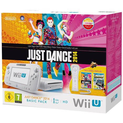 Console Wii U 8 Go Blanche + Just Dance 2014 + Nintendo Land à prix