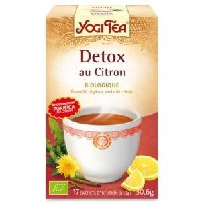 Yogi Tea. Detox Citron Bio.17 Infusettes. Achat / Vente thé Yogi