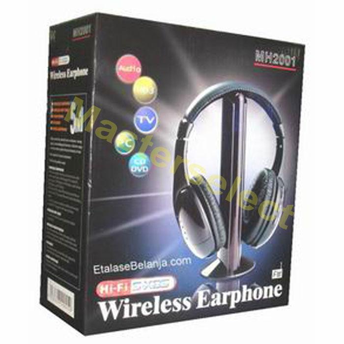 Casque Ecouteur audio sans fil pour TV télé télévision dvd avec