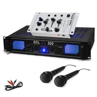 SET DJ «DJ 96» PA HiFi ampli mixer 2 micros 1600W, Top Prix | fnac