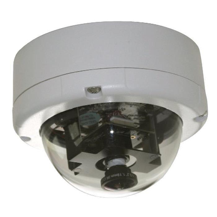 Caméra IP panoramique à 360° à dôme fixe intégrée dans boitier