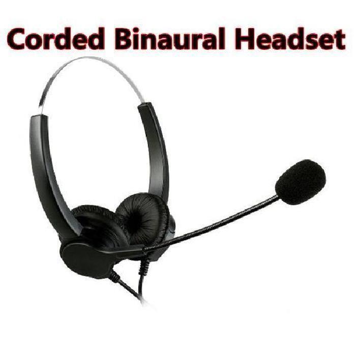 binaural filaire Call Center casque avec réducteurs de bruit micro