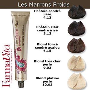 Coloration cheveux FarmaVita Tons Marron Froids Blond foncé cendré