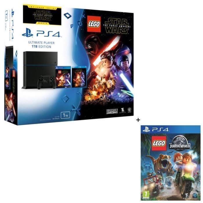 de la Force Jeu PS4 + Star Wars VII Blu Ray + Lego Jurassic World