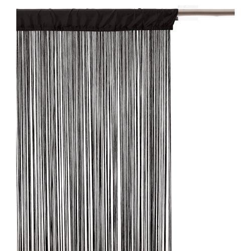 Atmosphera Rideau fils 90 x 200 cm Noir pas cher Achat / Vente