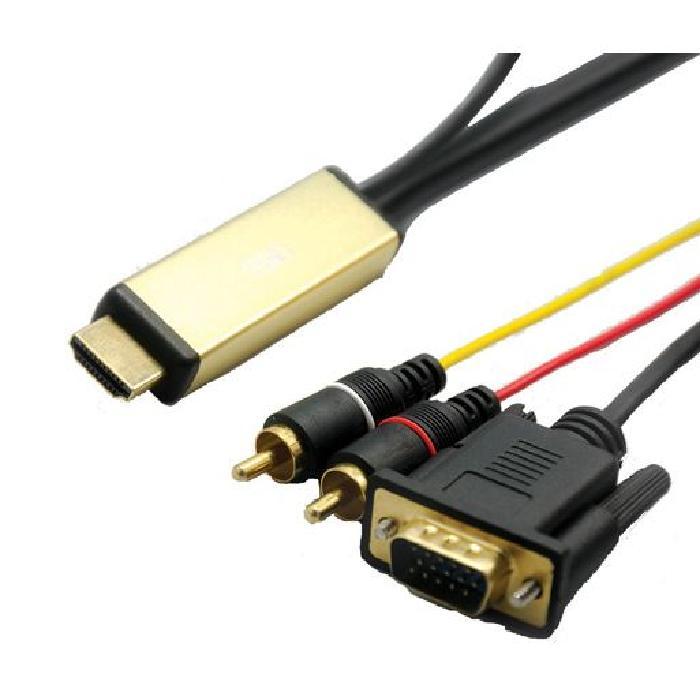 VGA 2m + audio. Achat / Vente câble audio vidéo Cable HDMI VGA